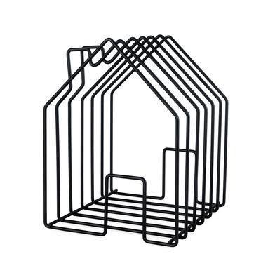 alvi Revistero Home Color negro En forma de casa Gran capacidad para revistas, catálogos o diarios A