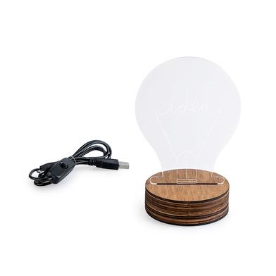 Balvi Lámpara de mesa Idea Con luz LED Con forma de bombilla Madera/acrílico