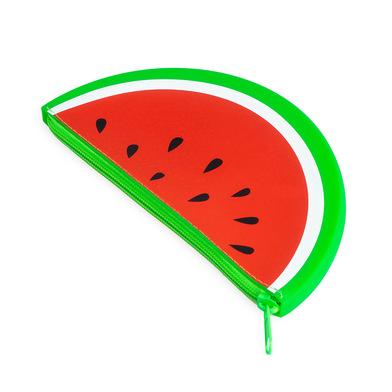 Balvi Trousse fourre-tout Watermelon Avec fermeture éclair Motif pastèque Silicone 19 cm