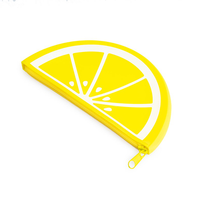 Balvi Trousse fourre-tout Lemon Avec fermeture éclair Motif citron Silicone 19 cm