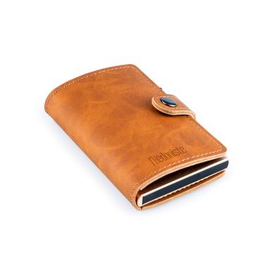alvi Mini-portefeuille RFID Coloris : brun-beige Antivol Porte-cartes automatique pour 6 cartes, com