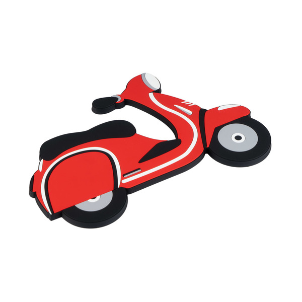 Balvi salvamanteles Scooter Mágnético En forma de motocicleta Silicona 18cm