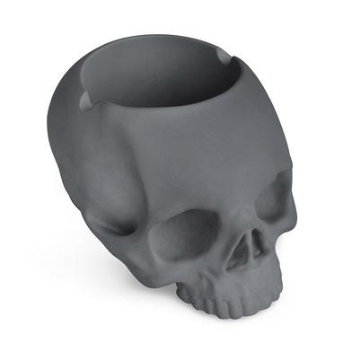 Balvi Cenicero Skully Color gris En forma de calavera Cerámica