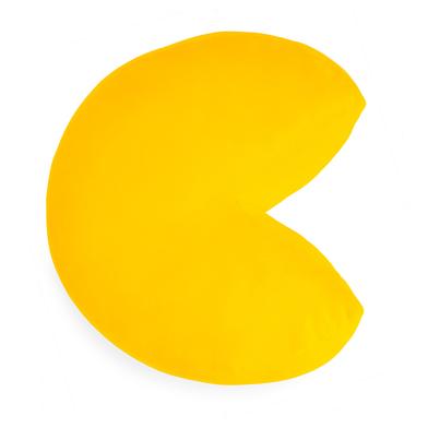 alvi Cojín Pac-Man Color amarillo En forma del icónico personaje de videojuego Pac-Man Poliéster 35c