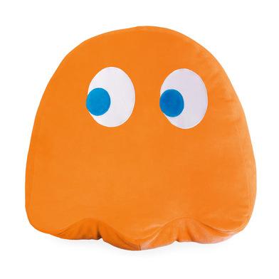 alvi Cojín Pac-Man Clyde Color naranja En forma del icónico personaje de videojuego Pac-Man Poliéste