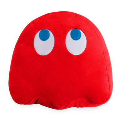 alvi Cojín Pac-Man Blinky Color rojo En forma del icónico personaje de videojuego Pac-Man Poliéster