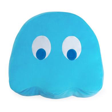 alvi Cojín Pac-Man Inky Color azul En forma del icónico personaje de videojuego Pac-Man Poliéster 35