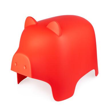 Balvi Taburete Piggy color rojo Con forma de cerdito Reposapies Para interior y exterior