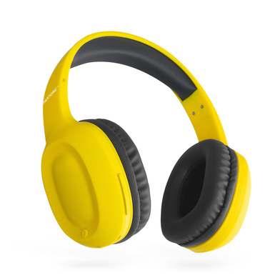 alvi Headphones Bluetooth Pantone Yellow colour Wireless (up to 10m) or cable (included) incoming ca