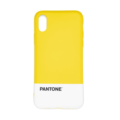 Balvi Funda iphone X/XS Pantone Color amarillo Textura agradable al tacto Plástico ABS