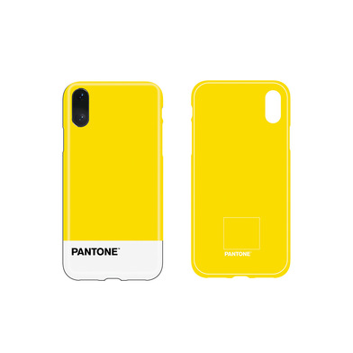 Balvi iPhone X/XS case Pantone Yellow colour nice textured feel ABS plastic
