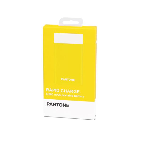 alvi Batería 6000mAh Pantone Color amarillo Carga rápida Indicador de carga LED Con cable USB DC5V E