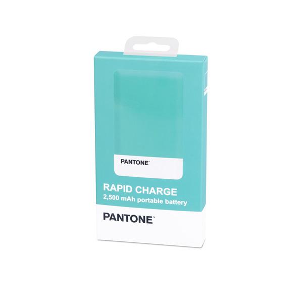 alvi Batería 2500mAh Pantone Color turquesa Carga rápida Indicador de carga LED Con cable USB DC5V E