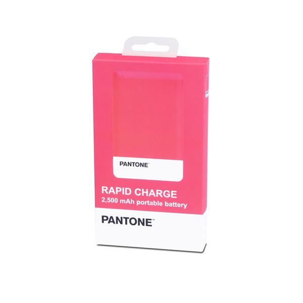 alvi Batería 2500mAh Pantone Color rosa Carga rápida Indicador de carga LED Con cable USB DC5V Entra