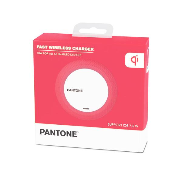 alvi Cargador inalámbrico Pantone Rosa Carga rápida iPhone 8, X, XS, Samsung Galaxy 6,7,8,9, Xaomi y