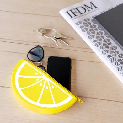 Balvi Astuccio multiuso Lemon Cerniera Con forma di frutta Silicone 19cm