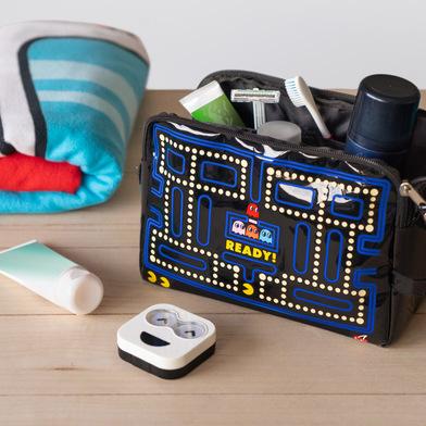 alvi Neceser Pac-Man Color negro Con 3 bolsillos interiores, asa y doble cremallera Plástico PVC 24c