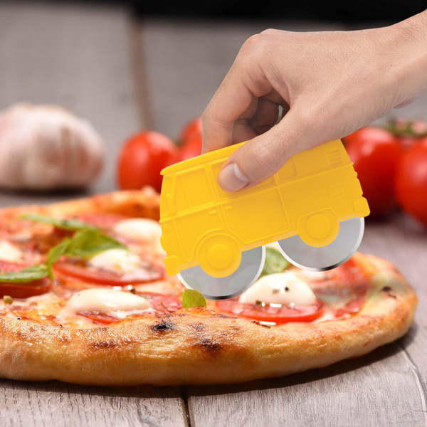 Balvi Corta pizza Van Color Amarillo Plástico ABS/inox