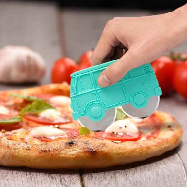 Balvi Corta pizza Van Color verde Plástico ABS/inox