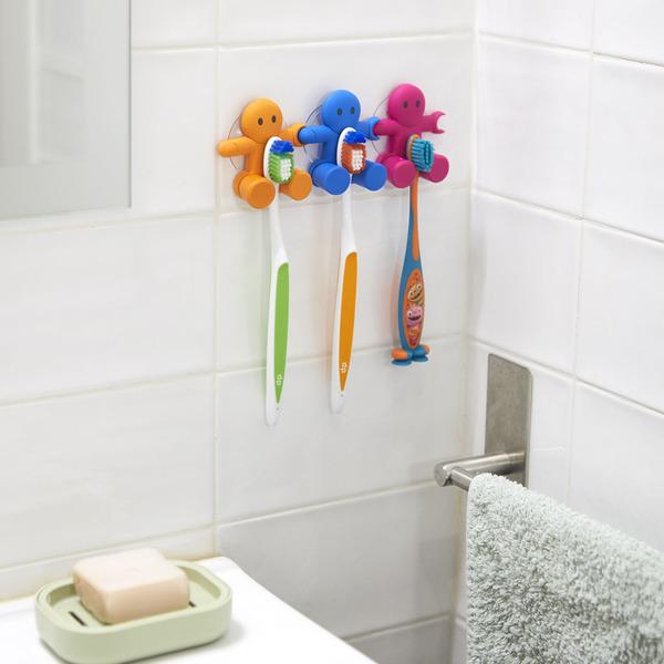 Balvi - Amico soporte para cepillo dental con ventosa