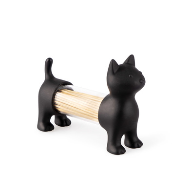 Balvi Tpick holder & salt&pepper shaker Cat Black colour Shaped cat Acrylic/PVC plastic