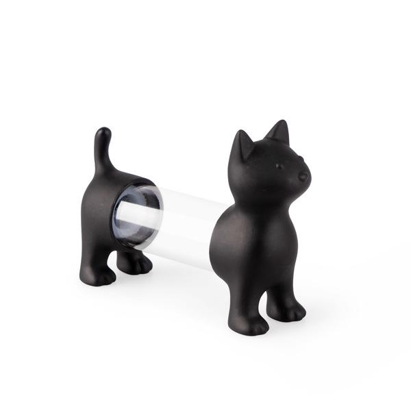 Balvi Tpick holder & salt&pepper shaker Cat Black colour Shaped cat Acrylic/PVC plastic