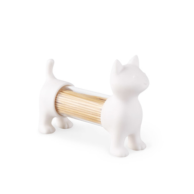 Balvi Tpick holder & salt&pepper shaker Cat White colour Shaped cat Acrylic/PVC plastic