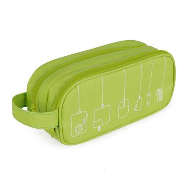 alvi Organizador cables Tidy Color verde Estuche doble Con bolsillos y separadores Con asa Poliéster