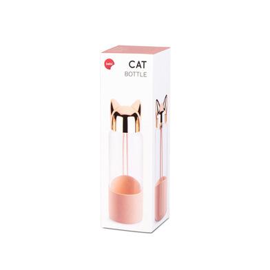 Balvi Botella Cat Color rosa Botella de agua de viaje, para la mesita de noche o escritorio
