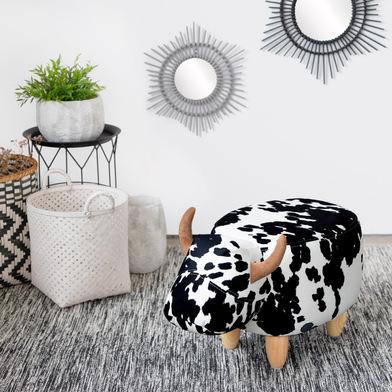 Balvi Sgabello La Vache Colore nero/bianco A forma di mucca Game in legno Poliestere/legno
