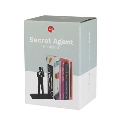Balvi - Secret Agent sujetalibros decorativo de metal en color negro