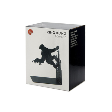 Balvi - Kong sujetalibros decorativo de metal en color negro