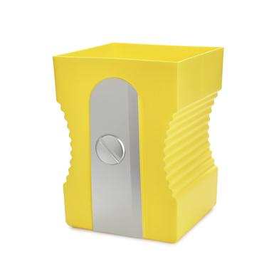 Balvi Papelera Sharpener Color amarillo Papelera con forma de sacapuntas Plástico ABS/PP 29cm