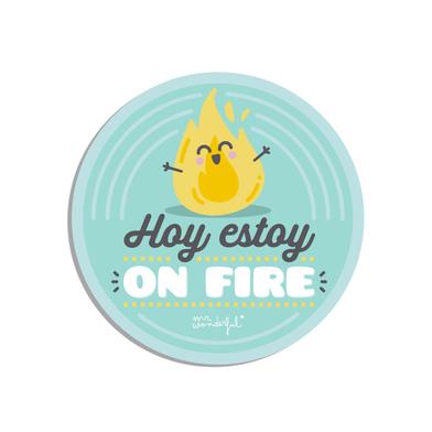 Balvi Salvamanteles MrWonderful On Fire ES Con mensaje divertido Idioma: Español Silicona
