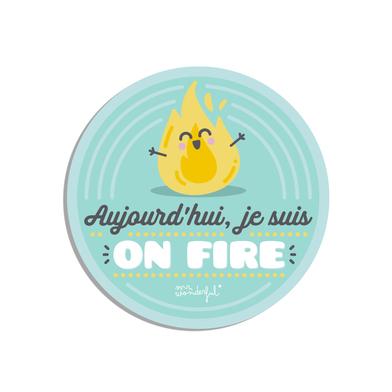 Balvi Salvamanteles MrWonderful On Fire FR Con mensaje divertido Idioma: Francés Silicona