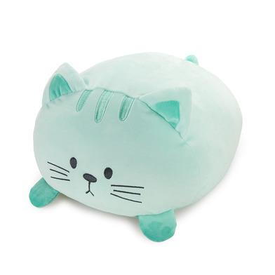 Balvi Cojín Kitty Color verde Forma de gato Suave y muy blando Poliéster