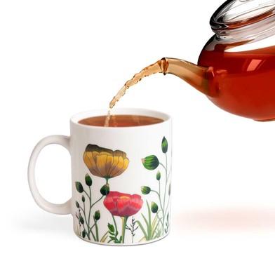 Balvi Mug Bloom Cambia de color! Taza con dibujo de flores Capacidad: 290ml Cerámica