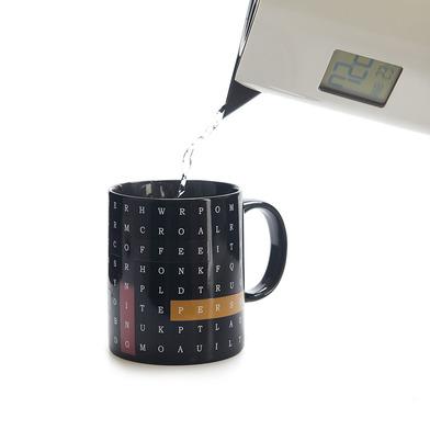 Balvi Mug Alphabet Soup Cambia de color! Taza con dibujo de sopa de letras Capacidad: 290ml Cerámica