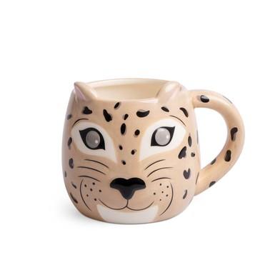 Balvi Mug Leopard Taza con cara de leopardo Capacidad: 500ml Cerámica
