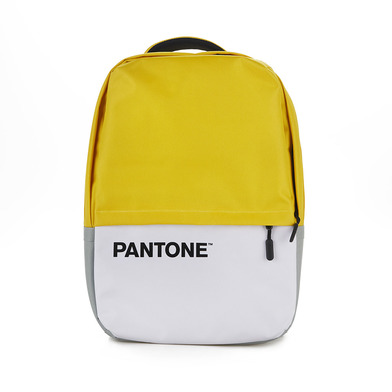 alvi Mochila Pantone Color amarillo Con cable USB Con bolsillo para ordenador portátil Poliéster 44