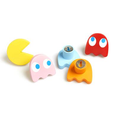 Balvi Colgador pared Pac-Man Set de 5 colgadores para ropa y complementos Polyresina