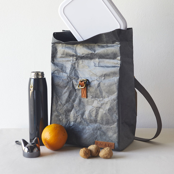 alvi Bolsa térmica Fresh Color gris Con asa y cinta regulable Para transportar la fiambrera, táper y