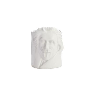 alvi Portalápices Albert Einstein Color blanco Lapicero para escritorio inspirado en el popular físi
