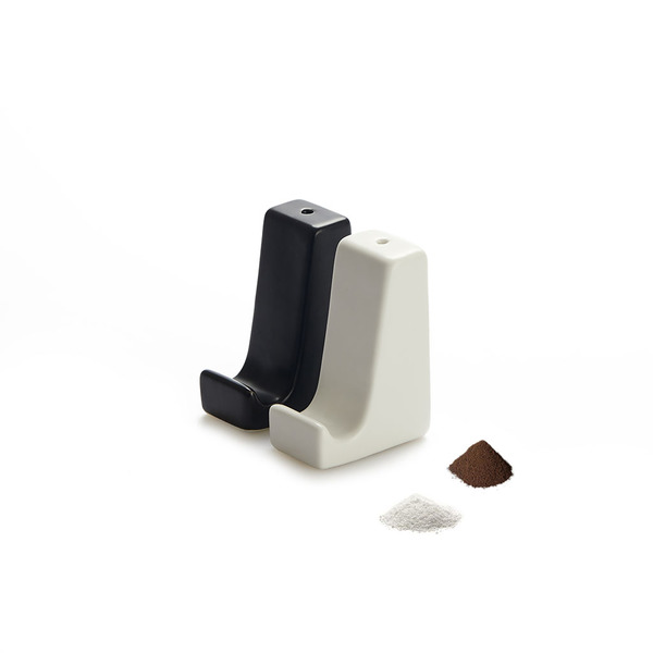 alvi Salt & pepper set Smart Stand Black And White colour Also support smartphone and tablets Set of