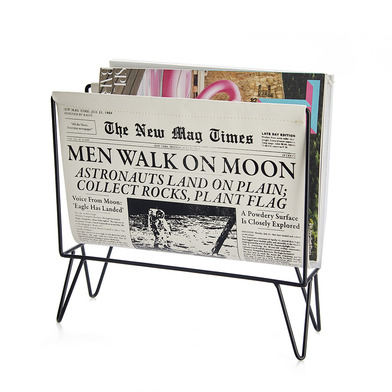 Balvi Revistero Newspaper Color negro Para revistas, catálogos y periódicos Metal/plástico