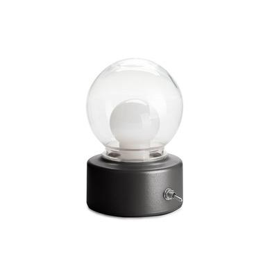 Balvi Luz Bulb Color negro Con imán Con asa integrada Luz cálida Plástico ABS/PET
