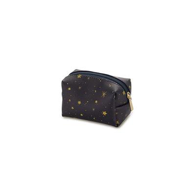 alvi Mini bolsa cosméticos Starry Color azul marino Con cremallera Para llevar maquillaje, objetos p