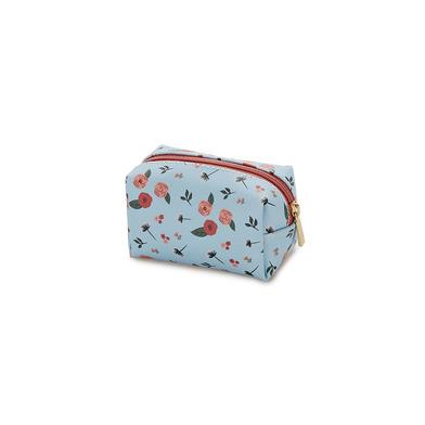 alvi Mini bolsa cosméticos Bloom Color azul Con cremallera Para llevar maquillaje, objetos pequñeos,