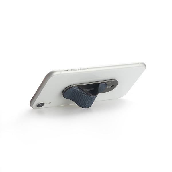 alvi Soporte teléfono móvil Momostick Color azul Soporte y sujeción de dedo para Smartphone Ajustabl