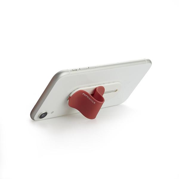 alvi Soporte teléfono móvil Momostick Color rojo Soporte y sujeción de dedo para Smartphone Ajustabl